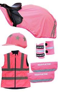 Shires Equi-Flector Reflection Set Pink