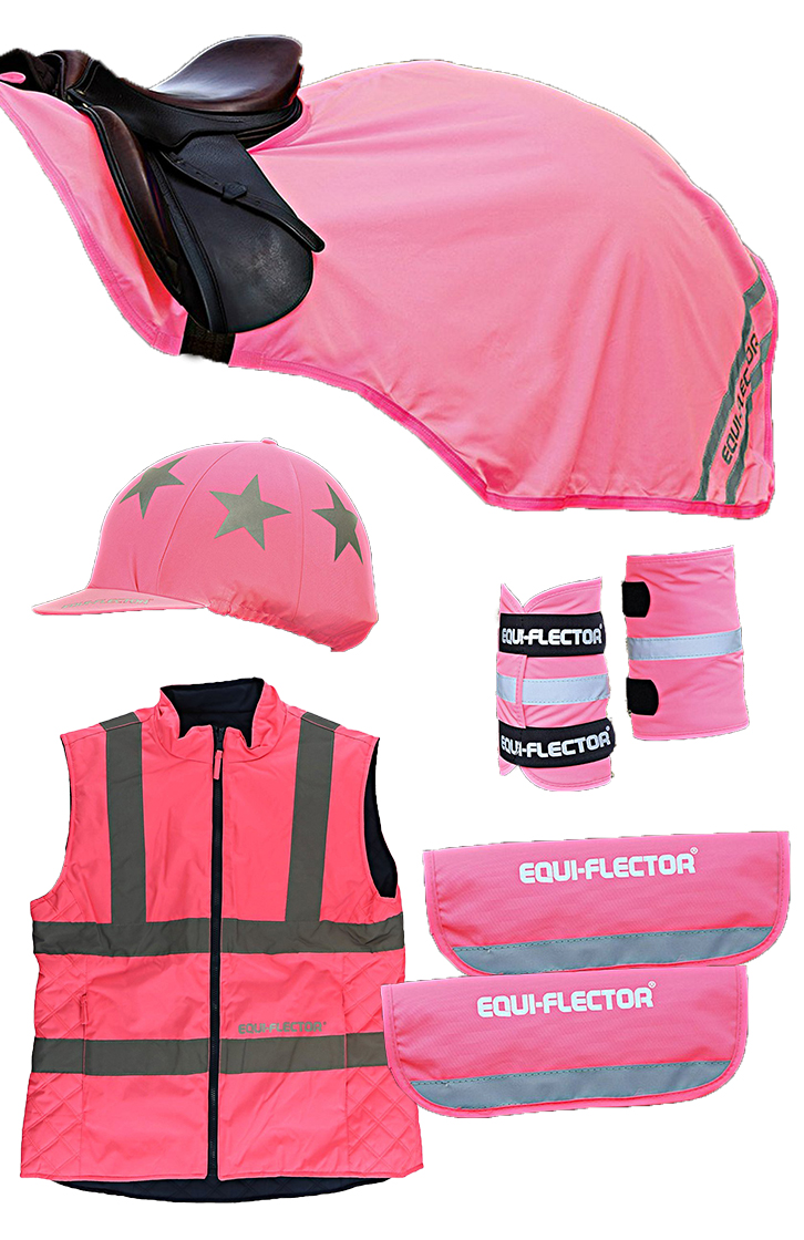Shires Equi-Flector Reflection Set Pink